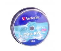Диск DVD-RW VERBATIM  4,7GB 4x Bulk 25 pcs