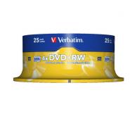 Диск VERBATIM DVD+RW 4,7Gb 4x Cake 25 pcs Silver 43489
