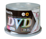 Диск RIDATA DVD+R 8,5Gb DL 8x 25 pcs