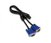 Кабель VGA-VGA (2 ferite, DE-15Hd) пакет, довжина 5 м., чорний з синім
