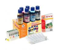 Комплект перезаправних картриджів WWM Epson P50/PX660/PX720WD/PX820FWD (RC.T080)
