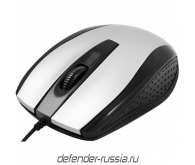 Миша DEFENDER Optimum MB-150 PS/2 B (серебро),USB 2кн+1кл-кн.