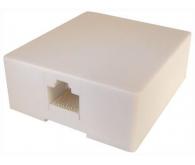 Розетка внутрішня 2xRJ-45 UTP LP Категорія 5e, біла одинарна для установки в підрозетник