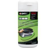 Серветки EMTEC Office Clean Wipes Tube 100pcs
