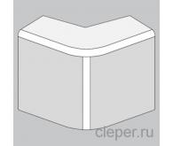 Зовнішній кут для короба 25x16