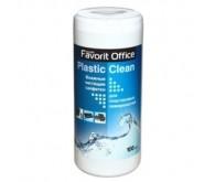 Серветки FAVORIT F230007 Влаж.салф. для пласт. пов. Бол. туба 100шт [УЦІНКА]