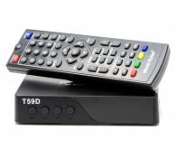 Цифровий TV-тюнер World Vision T59D \ DVB-T2  Виконання: зовнішнє \ Тип підключення: автономне