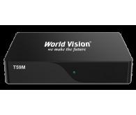 Цифровий TV-тюнер World Vision T59M \ DVB-T2  Виконання: зовнішнє \ Тип підключення: автономне