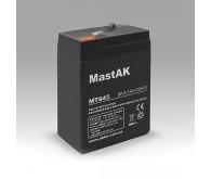 Акумуляторна батарея Mastak 6V 4.5Ah ( 70x40x101 ) 0.72кг