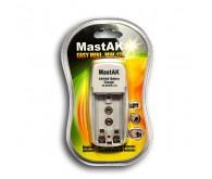 Зарядний пристрій MastAK  MW-128 (1/2, 2АА/2ААА-160mAh, 9V-16mAh)