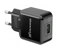 Зарядний пристрій Grand-X CH-03B USB 5V 2,1A USB (CH-03B) Black з захистом від перенавантажень