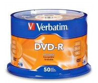 Диск VERBATIM DVD-R 4,7Gb 16x DATA LIFE Tape 50 pcs 43814