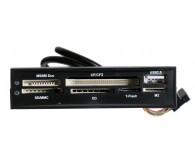 Кардридер ATCOM Cardreader внутренний all in 1 + USB 2,0 port , черный пластик USB 2,0,
