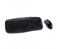 Комплект Клавіатура+миша, Genius KM-200 USB Чорна