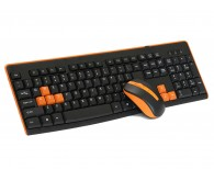 Клавіатура+миша HQ-Tech KM-32RF Orange, 2.4G, USB nano
