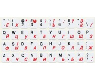 Наклейка на клавіатуру (непрозора) біла