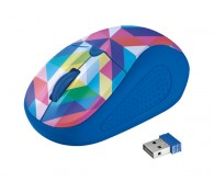 TRUST Primo Wireless Mouse blue geometry