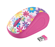 TRUST Primo Wireless Mouse pink flowers
