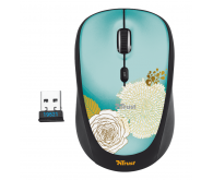Миша TRUST Yvi Wireless Mini Mouse flower