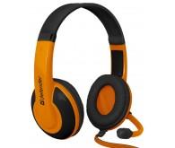 гарнітура DEFENDER Warhead G-120 2m чорний+оранжевий