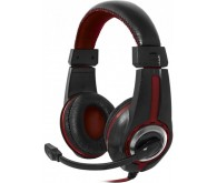 гарнітура DEFENDER Warhead G-185 2m чорний+червоний
