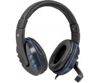 Гарнітура DEFENDER Warhead G-160 чорний+синій, кабель 2,5 м