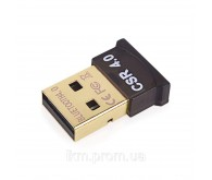 Адаптер USB Bluetooth v4.0 HQ-Tech BT4-S1, Extra Slim, Qualcomm CSR8510, (плоский), blister