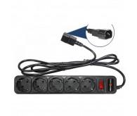 Сетевой фильтр к ИБП LP-X5 , черный, 3м кабель, 5 розеток