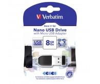 USB 8Gb VERBATIM  STORE'N'GO Nano