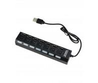Хаб USB2.0, ATCOM USB HUB TD1082 7port, вимикання портів
