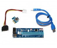 Райзер ATcom PCI-E x1 to 16x 60cm USB 3.0 Cable, 6pin Power (REV 007)