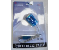 Контролер USB to Com cable (USB to RS232) blister packing ( сумісний з Windows 7/8/10)