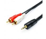 Кабель Audio mini-jack(M) - > 2 RCA (M) пакет, довжина 1,8 м.