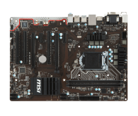 Системна плата Soc 1151 MSI H110 PC MATE Socket 1151, Intel H110, 2xDDR4, 1000 МБит/с, 4xUSB2.0, ATX