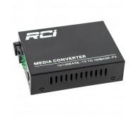 Медиаконвертер RCI 100M, 20km, SC, RJ45, Tx 1310nm, (RCI902W-FE-20-T)