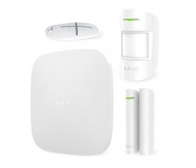 Бездротова GSM система охорони Ajax StarterKit White - комплект (для ДСО + автономка)